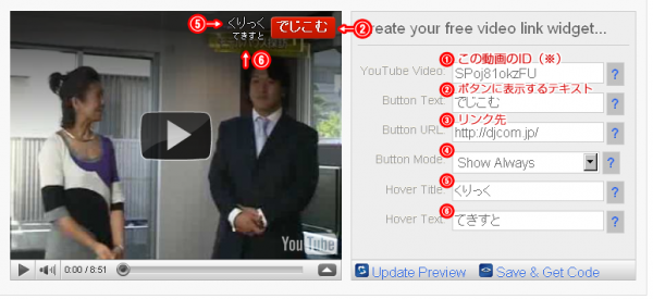 youtube動画にリンク設置